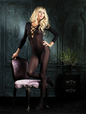 *** ESGOTADO *** - CATSUIT LA SHEER CRISS CROSS