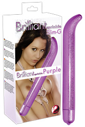 *** ESGOTADO *** - VIBRADOR BRILLIANT SPRINKLE SLIM-G PURPLE