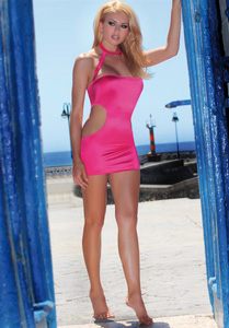*** ESGOTADO *** - MINI VESTIDO NIGHT QUEEN PINK