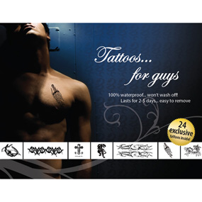 *** ESGOTADO *** - SET 24 TATTOOS FOR GUYS