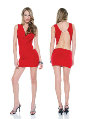MINI VESTIDO EVENING SCANDAL RED